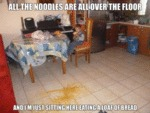All The Noodles Are All Over The Floor