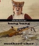 What Does The Fox Say? Bang, Bang Motherfucker