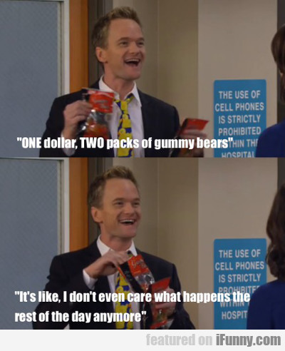 One Dollar, Two Pack Of Gummy Worms...