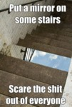 Put A Mirror In Some Stairs...