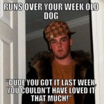 Runs Over Your Week Old Dog...
