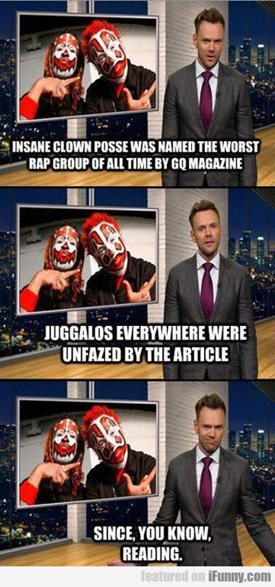 insane clown posse was named the worst rap...