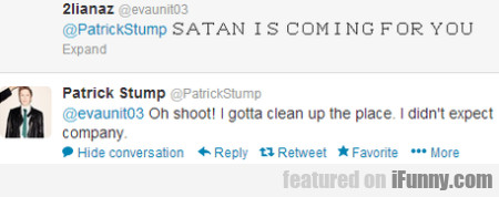 satan is coming for you