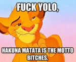Fuck Yolo, Hakuna Matata Is The Motto