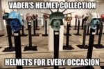 Vader's Helmet Collection...