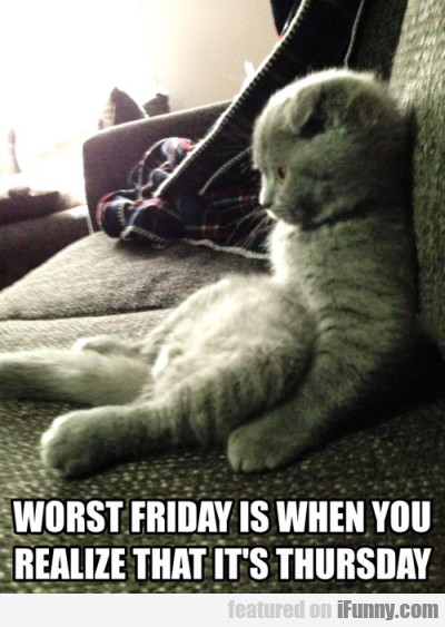 Worst Friday Is When You Realize That It's