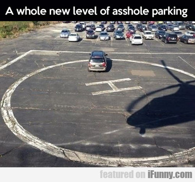 a whole new level of asshole parking...