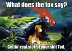 What Does The Fox Say? I'm Getting Real Sick...