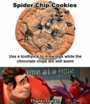 Spider Chip Cookies...