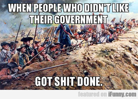 When People Who Don't Like Their Government...