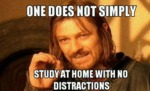 One Does Not Simply Study At Home Without...