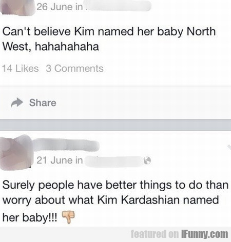 Can't Believe Kim Named Her Baby