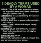 5 Deadly Terms Used By Woman