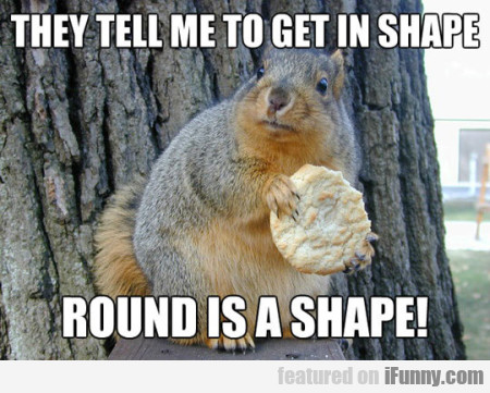 They Tell Me To Get In Shape... Round Is A Shape!