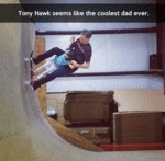 Tony Hawk Seems Like The Coolest Dad Ever...