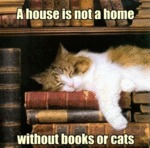 A House Is Not A Home Without Books Or Cats