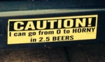 Caution, I Can Go From 0 To Horny In 2.5 Beers