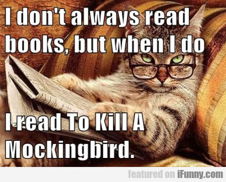 I don'talways read books but when I do...