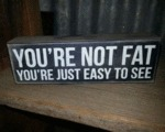 You're Not Fat, You're Just Easy To See...