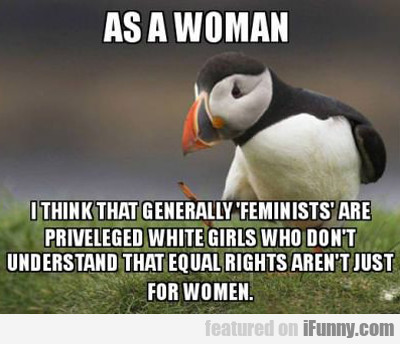 As A Woman, I Think That Feminists Are...
