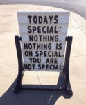 Today's Special: Nothing. Nothing Is On Special...