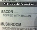 Well, I Know What I'm Ordering...