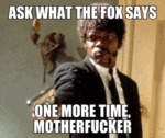 Ask What The Fox Say One More Time...
