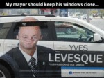 My Mayor Should Keep His Windows Closed...