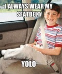 I Always Wear My Seatbelt. Yolo