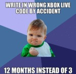 Write In Wrong Xbox Live Code By Accident...
