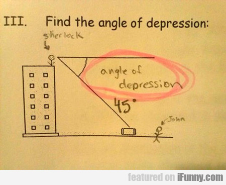 find the angle of depression...