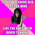 I Love Watching Old Doctor Who...