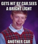 Gets Hit By A Car, Sees A Bright Light...