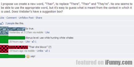 I Propose We Create A New Word , Thair