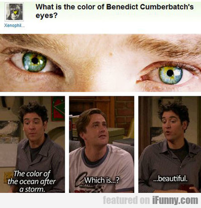 What Is The Colour Of Benedict Cumberbatch's Eyes?