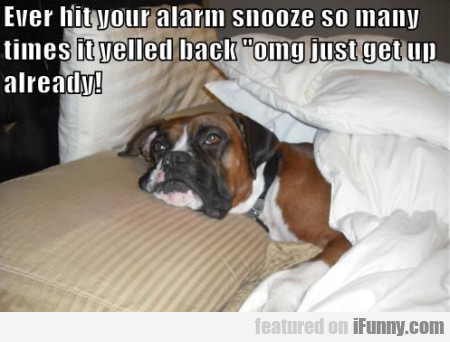 Ever Hit Your Alarm Snooze So Many Times