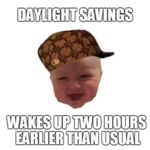 Daylight Savings Wakes Up Two Hours Earlier