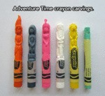 Adventure Time Crayon Carvings