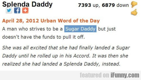 A Man Who Strives To Be A Sugar Daddy But Just