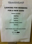 Looking For Members For A New Gang...