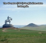 The 40 Metre Tall Genghis Khan Statue In Mongolia
