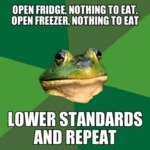 Open Fridge, Nothing To Eat, Open Freezer...