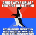 Grinds With Girl At A Party For The First Time...