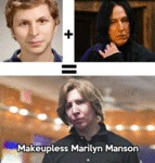 Makeupless Marilyn Manson