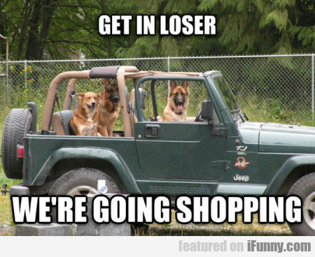 Get In Loser Were Going Shopping Ifunnycom
