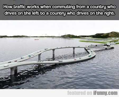 How Traffic Works When Commuting From A Country...