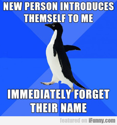 New Person Introduces Themself To Me...