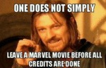 One Does Not Simply Leave A Marvel Movie...