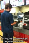 Guy In Line At Burger King Could Not Take His...