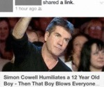 Simon Cowell Humiliates A 12 Year Old